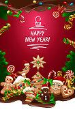 Vector illustration Christmas sweet background