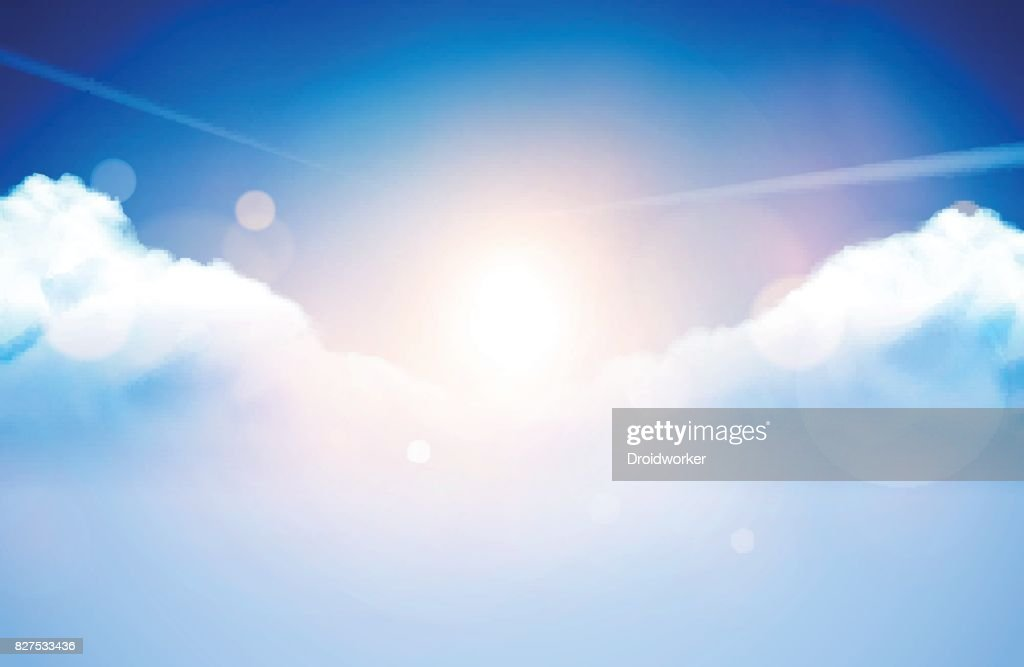 Vector Illustration - Cloudy Sky Background / Wallpaper