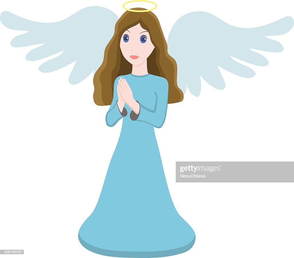 Vector illustration cute angel character