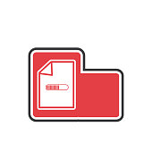 vector illustration document flat icon
