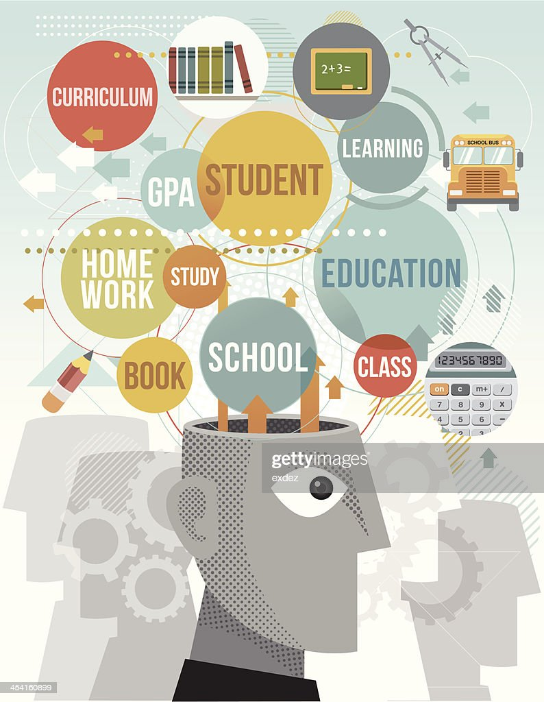 Vector illustration educational term icons