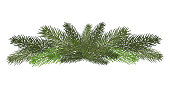 Vector illustration. Eps 10.Garland of branches of a Christmas tree . Isolated. nature decoration.