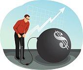 Vector illustration: financial bubble