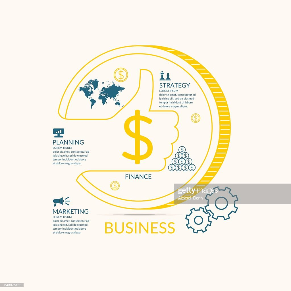 Vector illustration for business infographics with money
