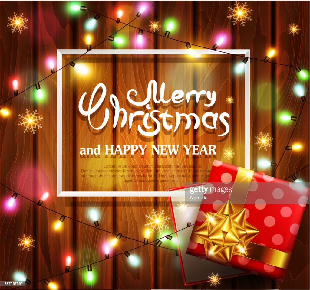 Vector Illustration For Merry Christmas And Happy New Year Greeting