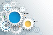 Vector illustration gear wheel, Abstract hi-tech technology background