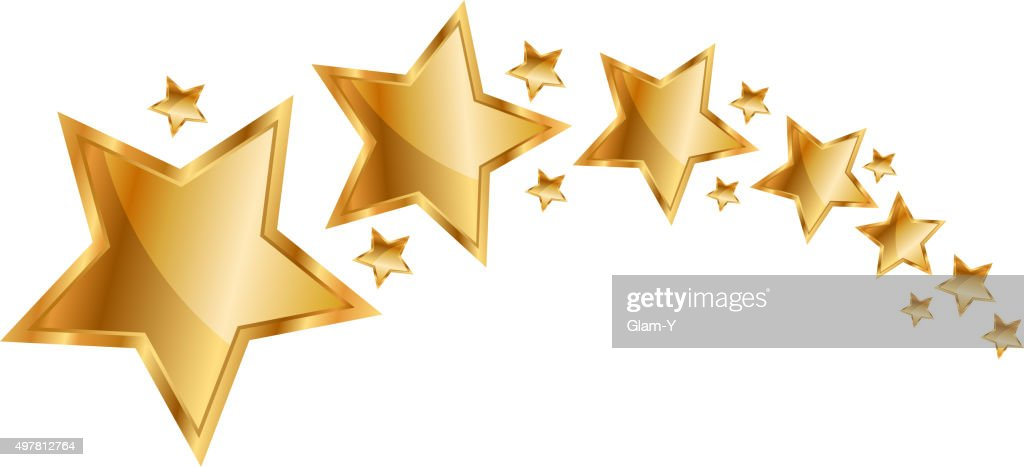 Vector illustration gold stars