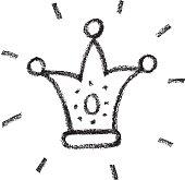 Vector illustration, hand drawn crown.