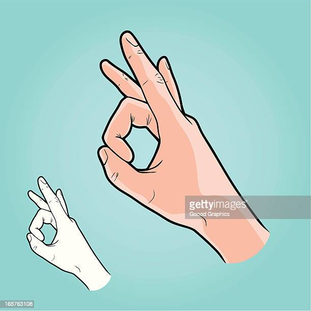 illustrazioni stock, clip art, cartoni animati e icone di tendenza di illustrazione vettoriale di mano a far schioccare-segnale inglese - gettata