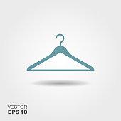 Vector illustration hanger for clothes.
