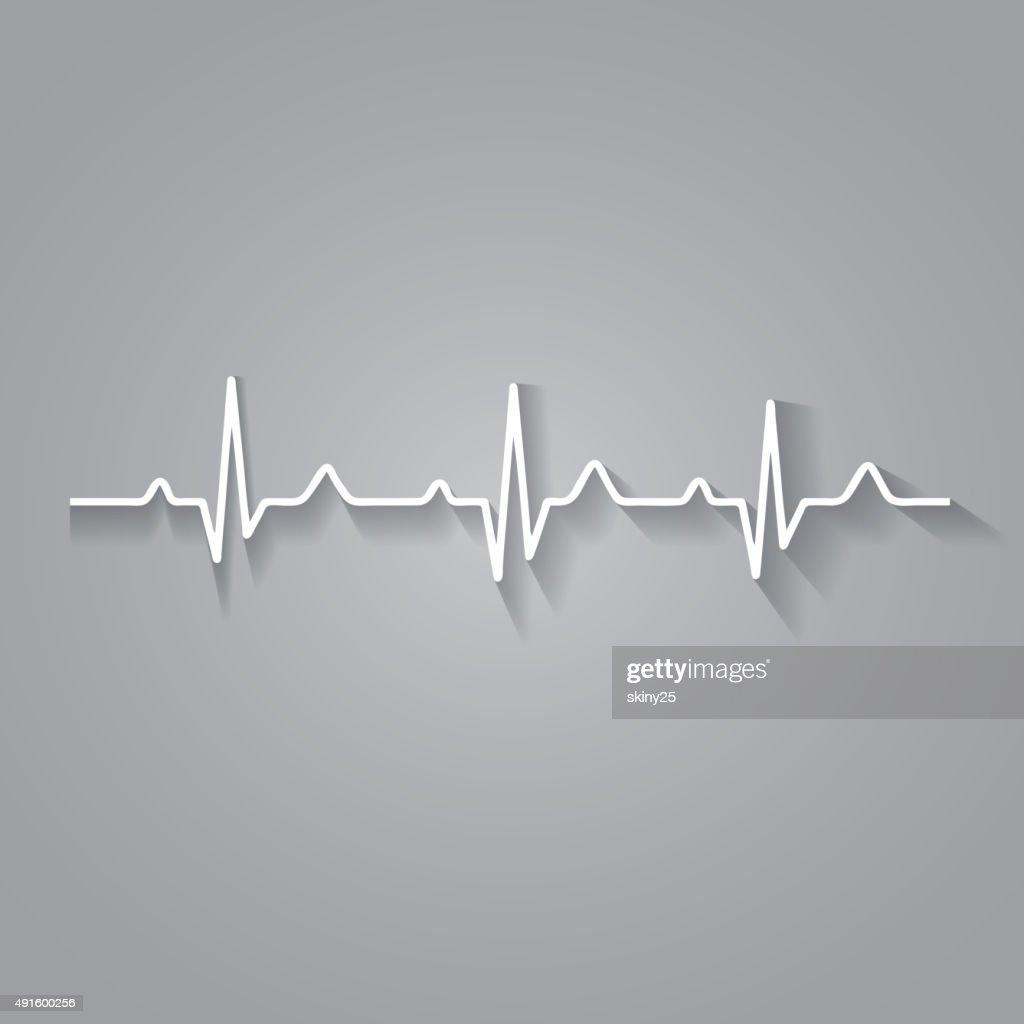 Vector Illustration heart rhythm ekg .