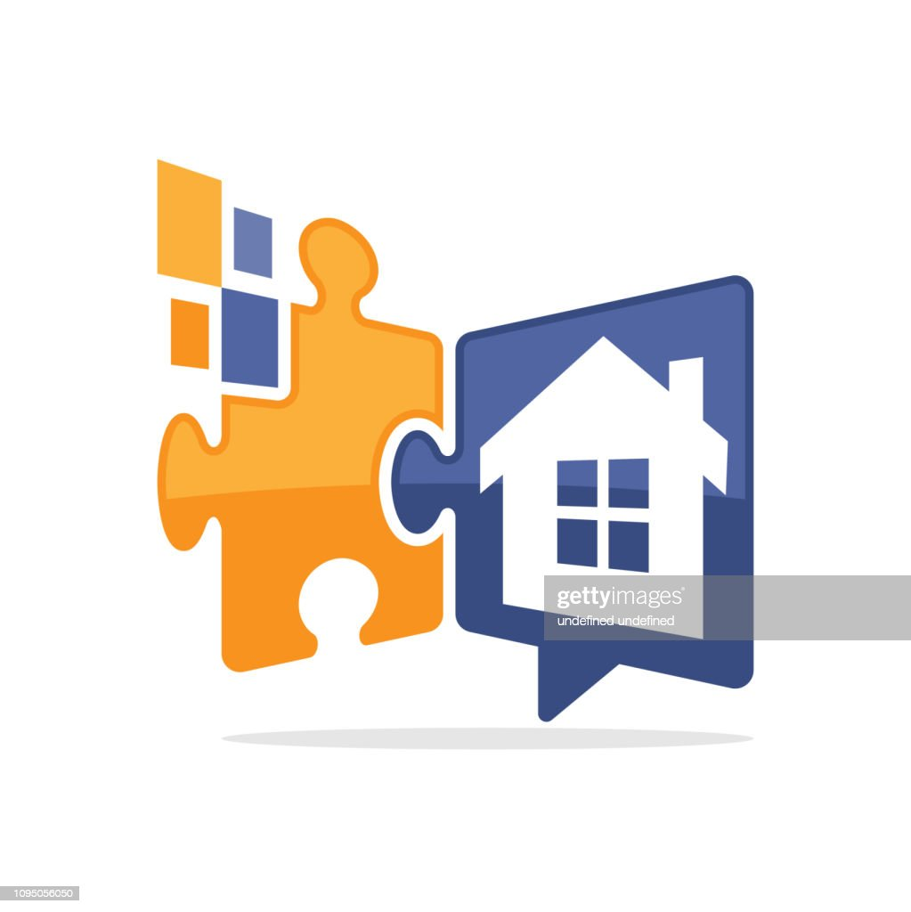 Vector illustration icon with a digital solution media concept that communicates information about property business problems