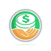 vector illustration icon with of fundraising, business loan money, save money, and other financial management