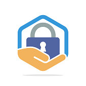 Vector illustration icon with secret security protection concept