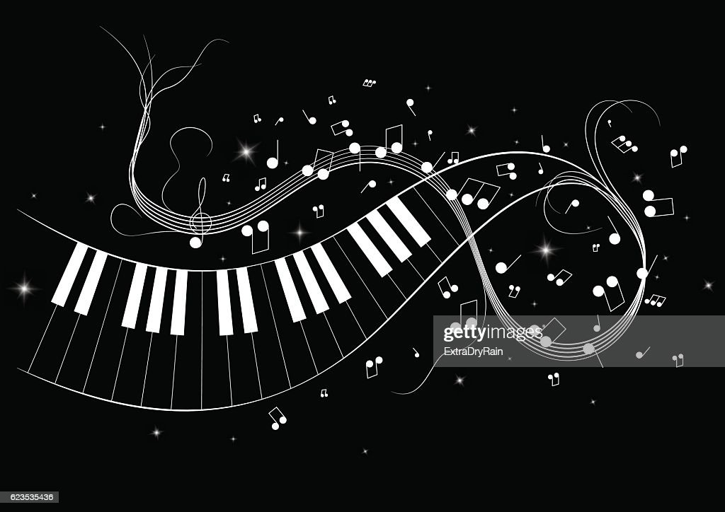 Vector illustration image of piano notes