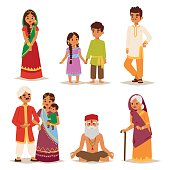 Vector illustration indian people.