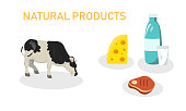 Vector Illustration is Written Natural Products.