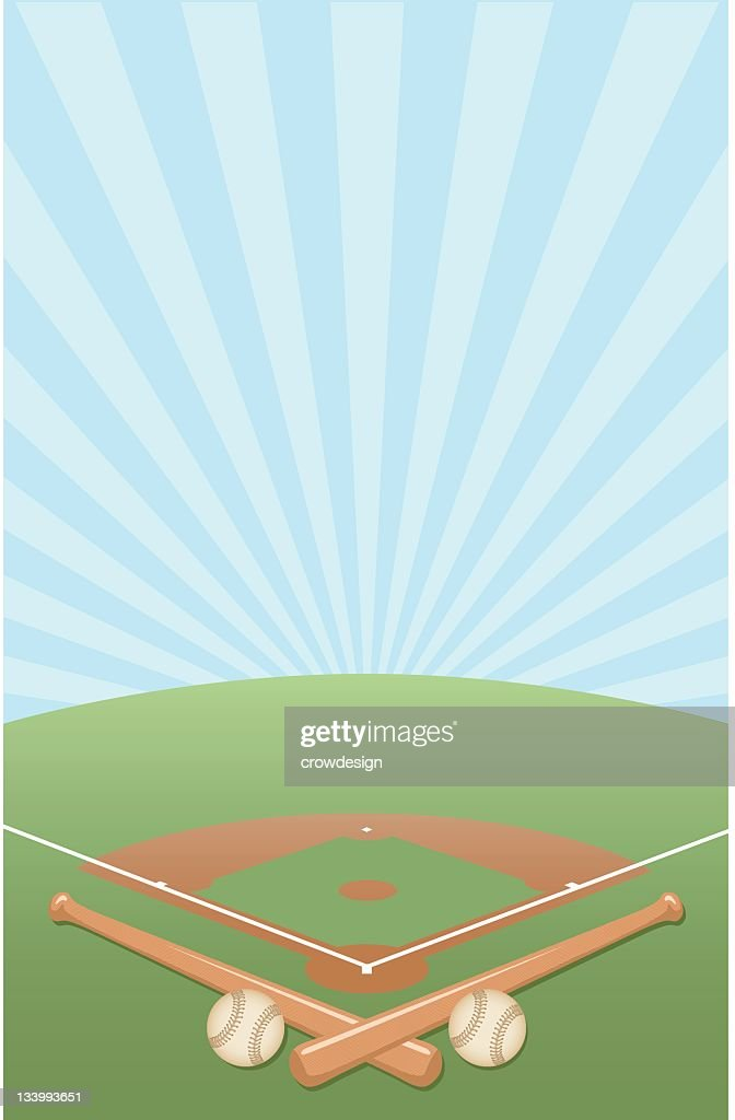 Vector illustration of a baseball diamond background
