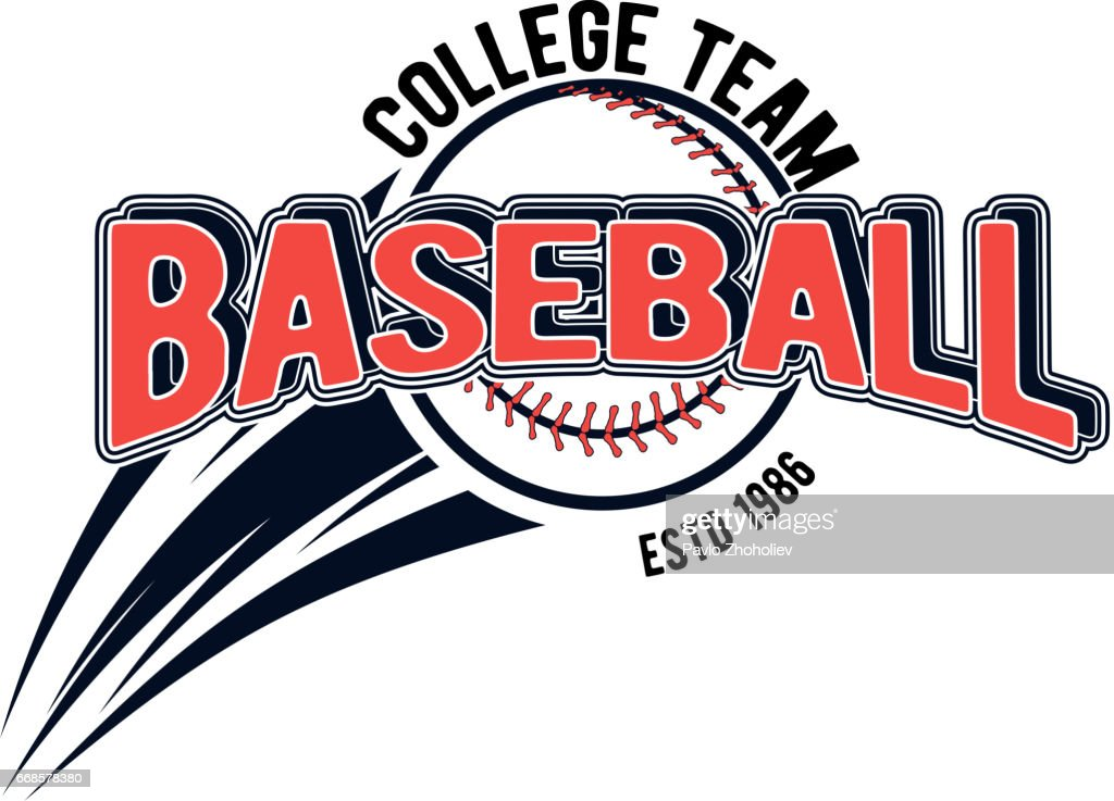 Vector illustration of a baseball logo for your design, print or web on a white background