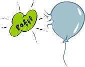 vector illustration of a bursting ballon