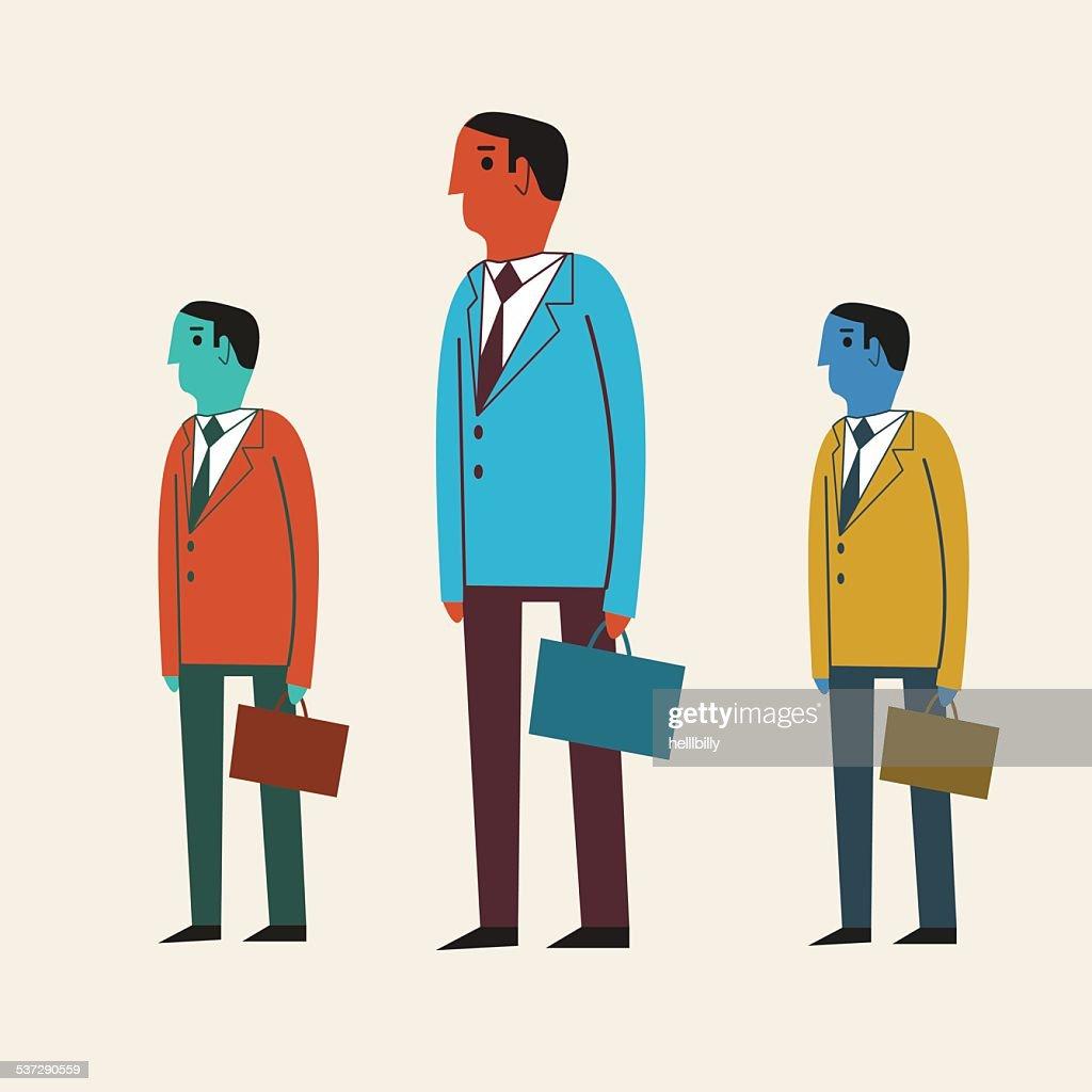 Vector illustration of a cartoon businessman.