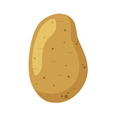 Vector illustration of a funny potato in cartoon style.