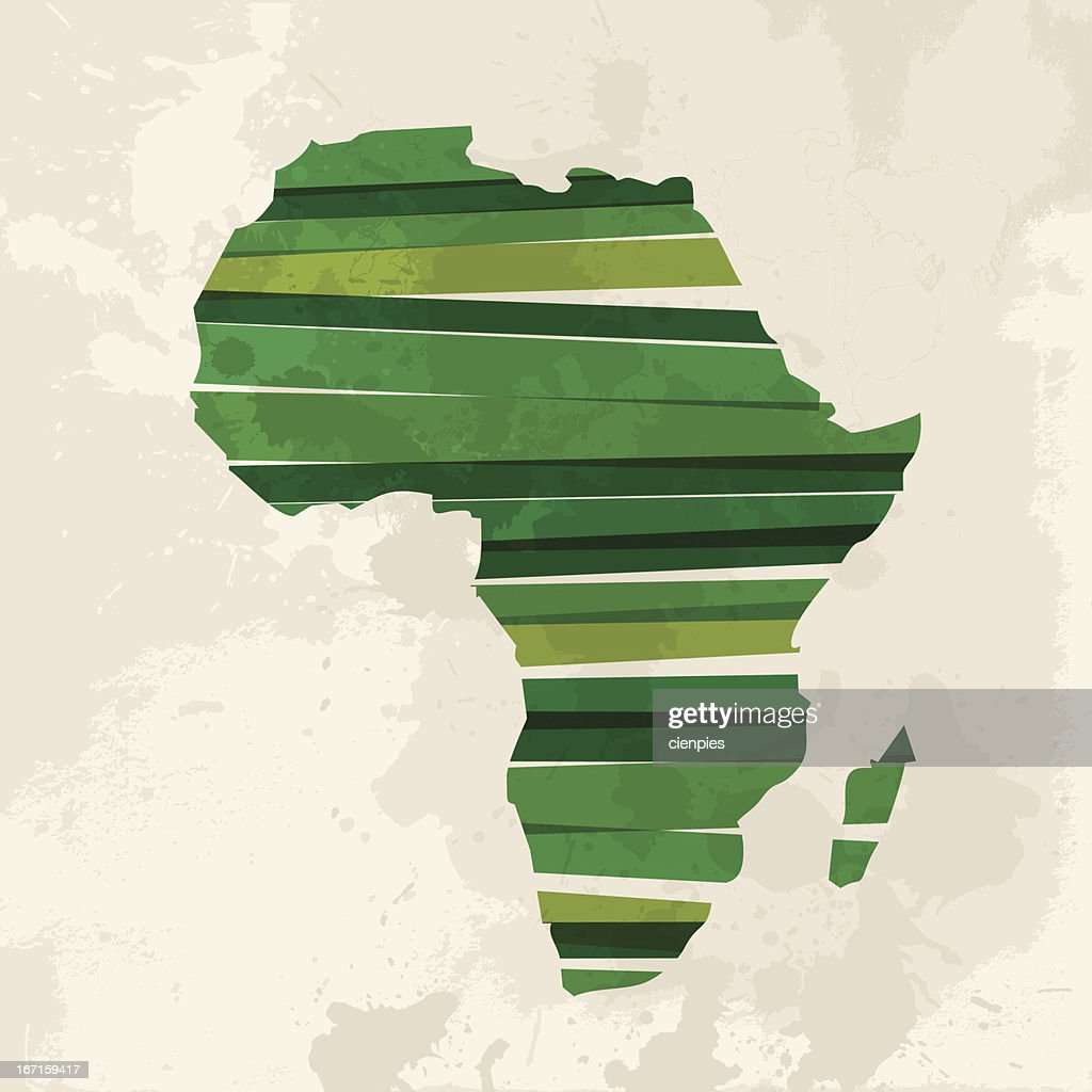 Vector illustration of a green African continent