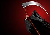 Vector illustration of a grim reaper