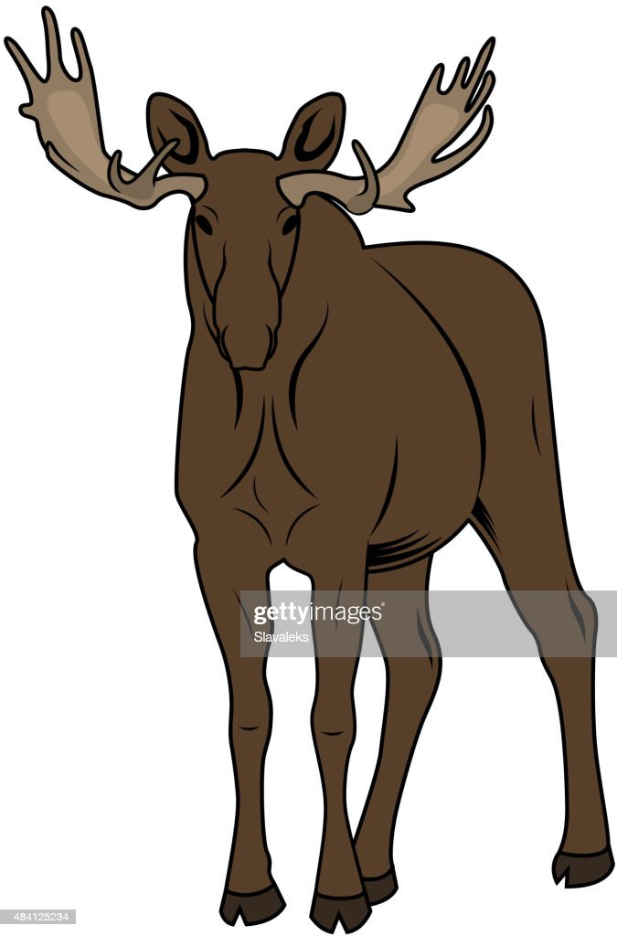 Vector Illustration of a Moose