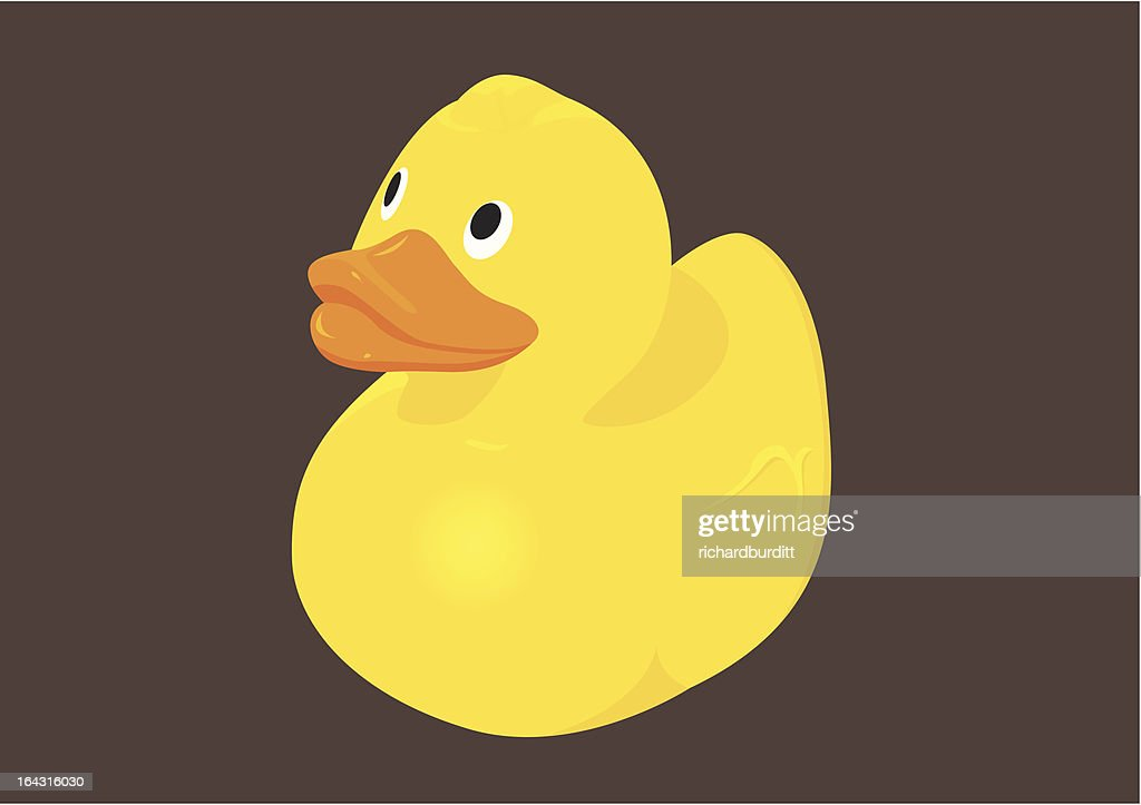 vector illustration of  a rubber duck