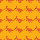 Vector illustration of a seamless repeating pattern of cheerful