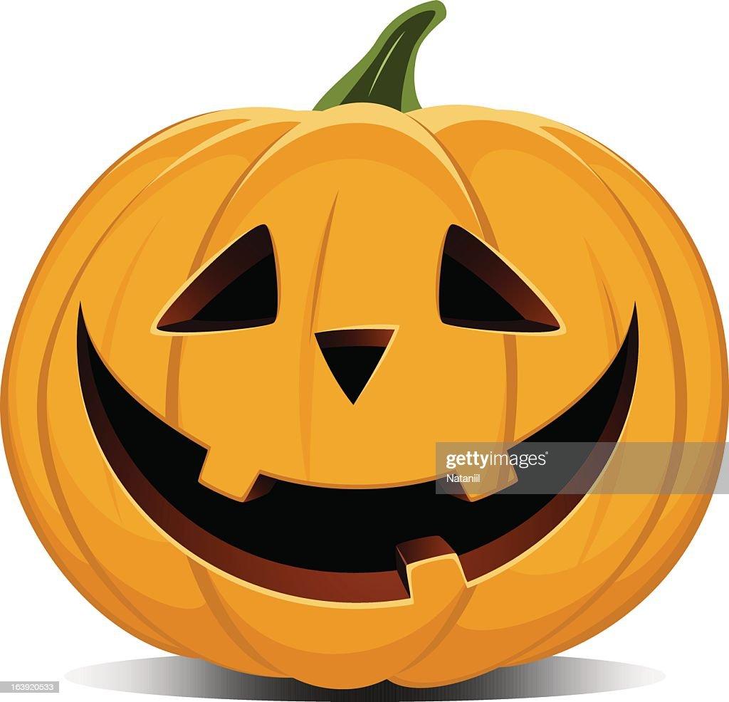 Vector illustration of a smiling jack-o-lantern