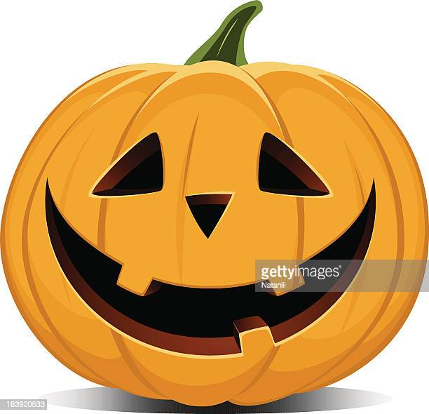 Vector illustration of a smiling jack-o-lantern