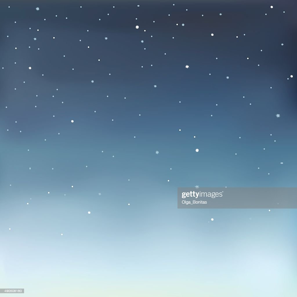 Vector illustration of a starry sky.