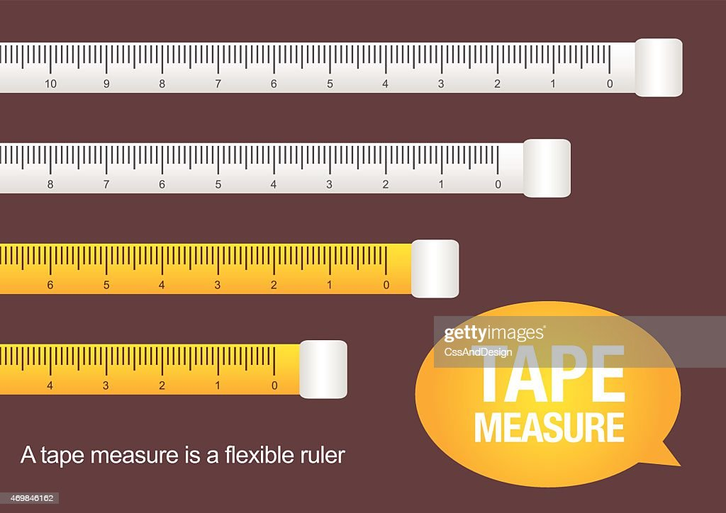 A vector illustration of a tape measure