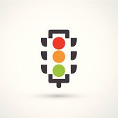Vector illustration of a traffic light