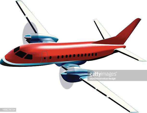 Vector Illustration of a Turbo Prop Airplane