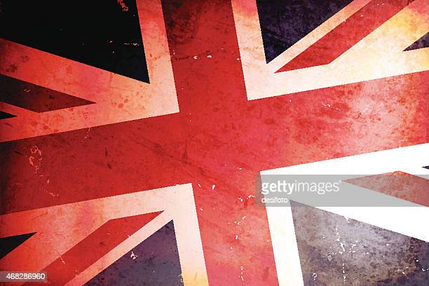 vector illustration of a vintage flag of united kingdom - england stock illustrations