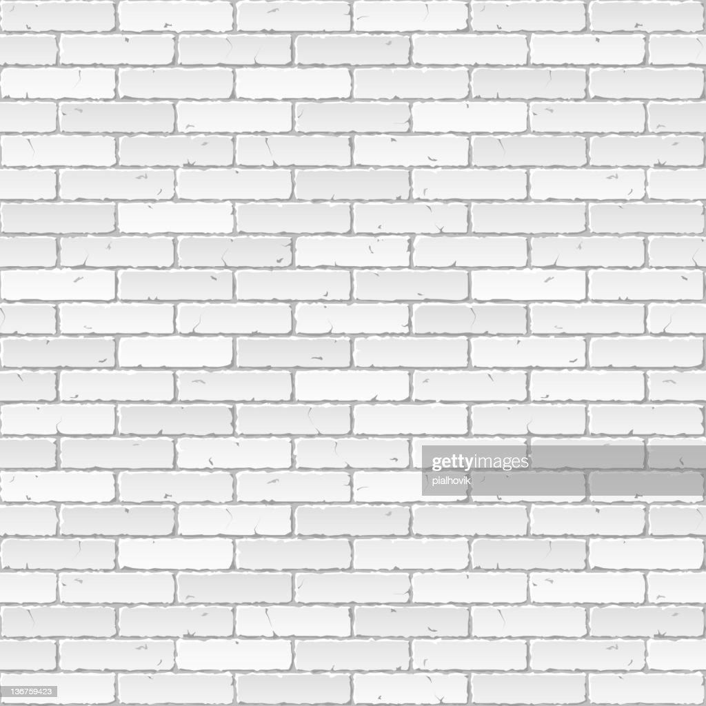 Vector illustration of a white brick wall