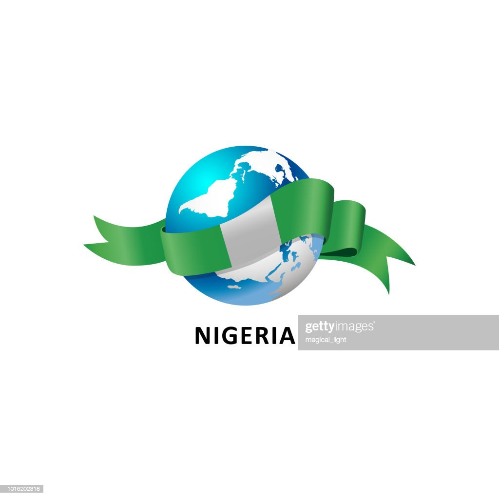 Vector Illustration of a world – world with the nigeria flag