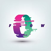Vector Illustration of Abstract Colored 3d Ring