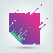 Vector Illustration of Abstract Colored Square