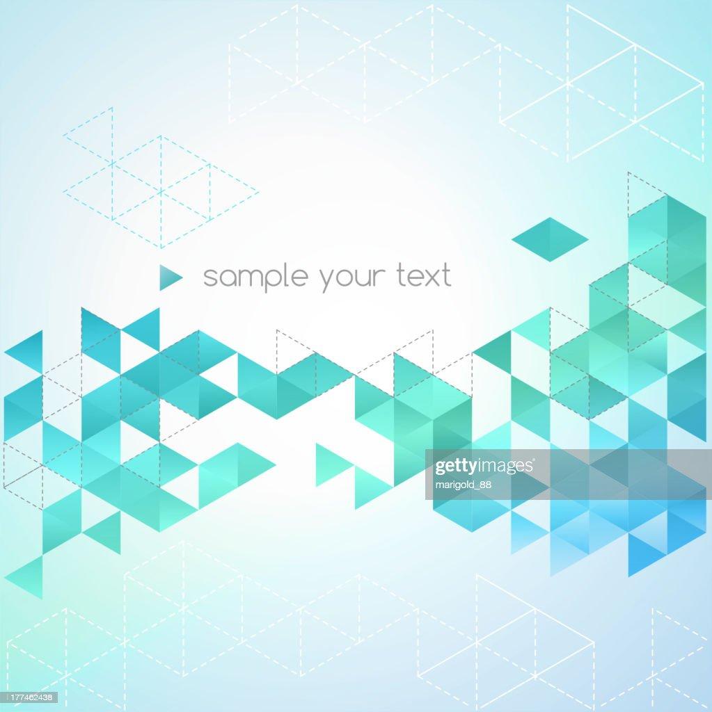 Vector illustration of abstract diamond background