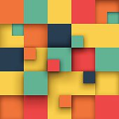Vector Illustration of abstract squares