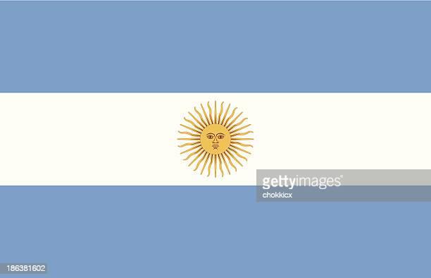 Ilustração vetorial de bandeira da Argentina