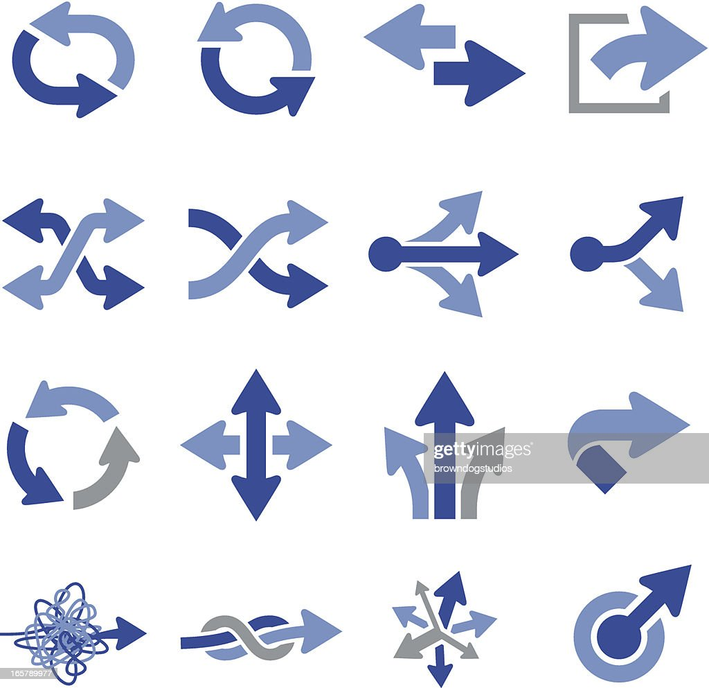 Vector illustration of arrow icons