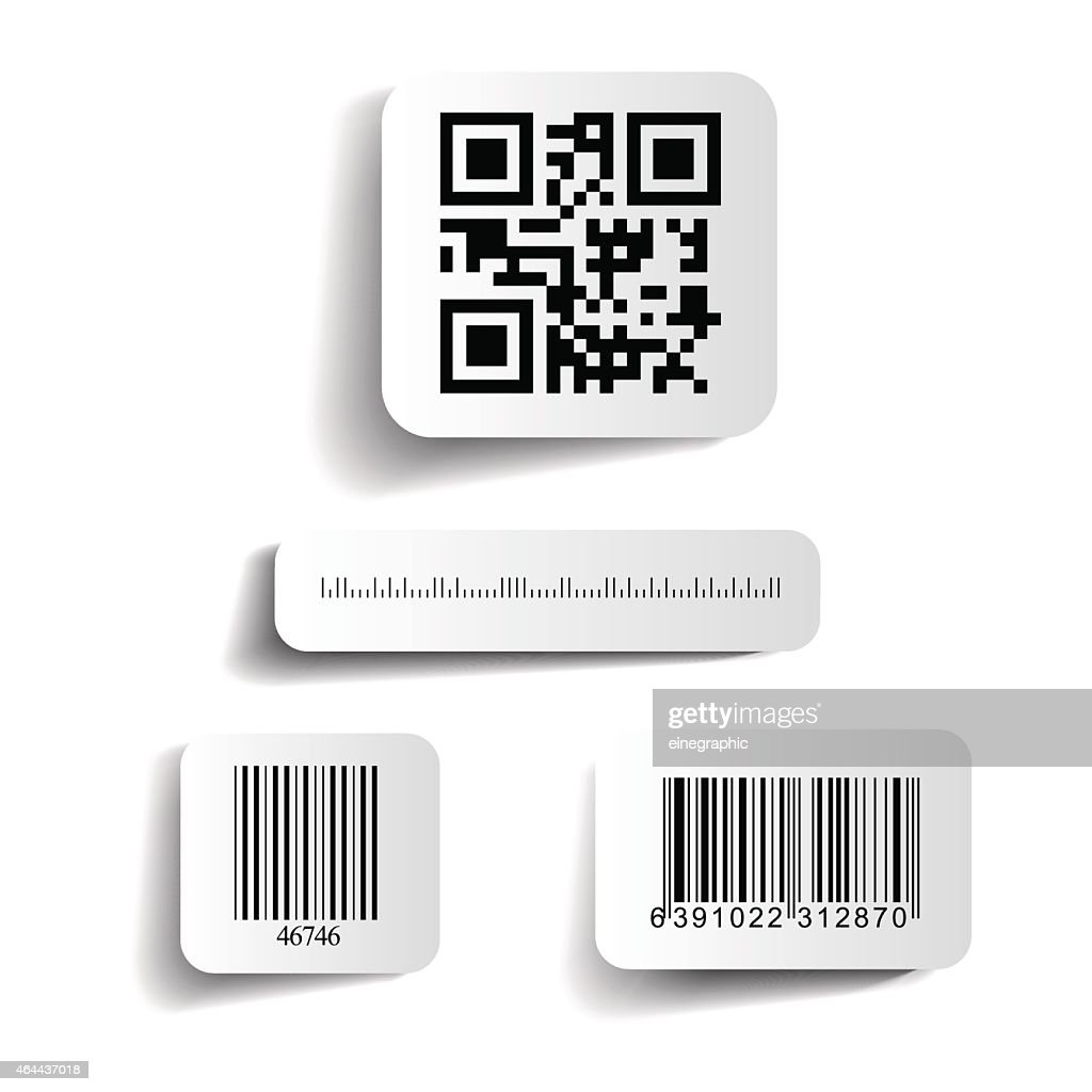 Vector illustration of barcodes on a white background