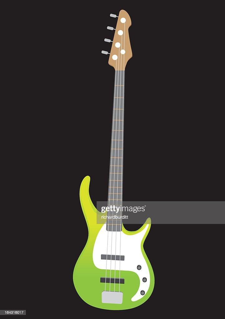 vector illustration of  bass guitar