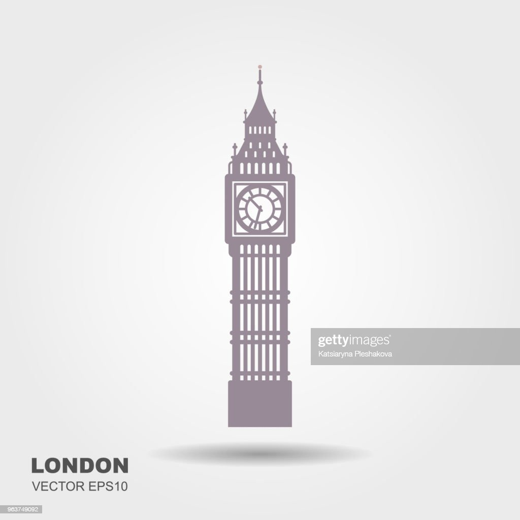 Vector Illustration of Big Ben Tower