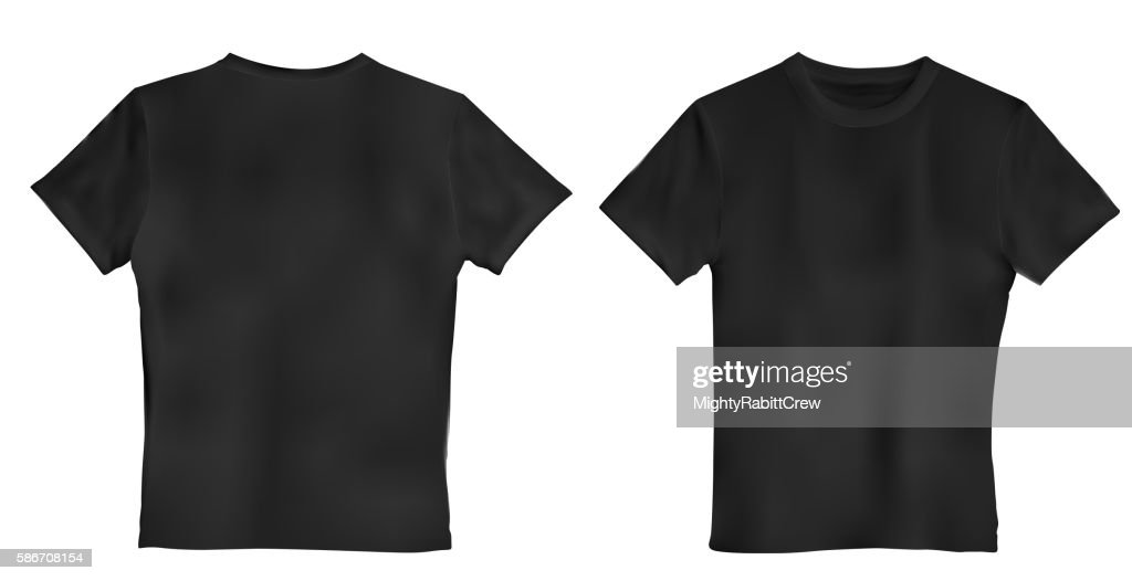 Vector illustration of black men T-shirt isolated on a